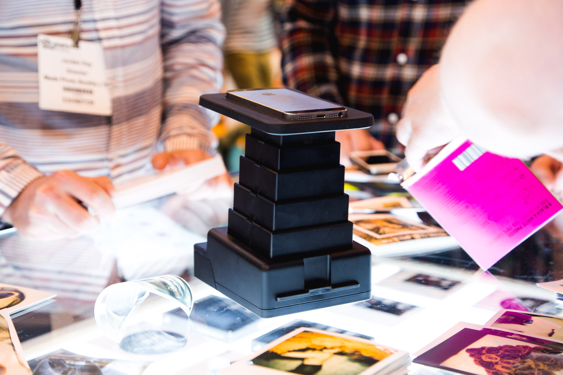 Impossible showed their Instant Lab Universal product. This allows you to expose an image on your smartphone or tablet to polaroid film.