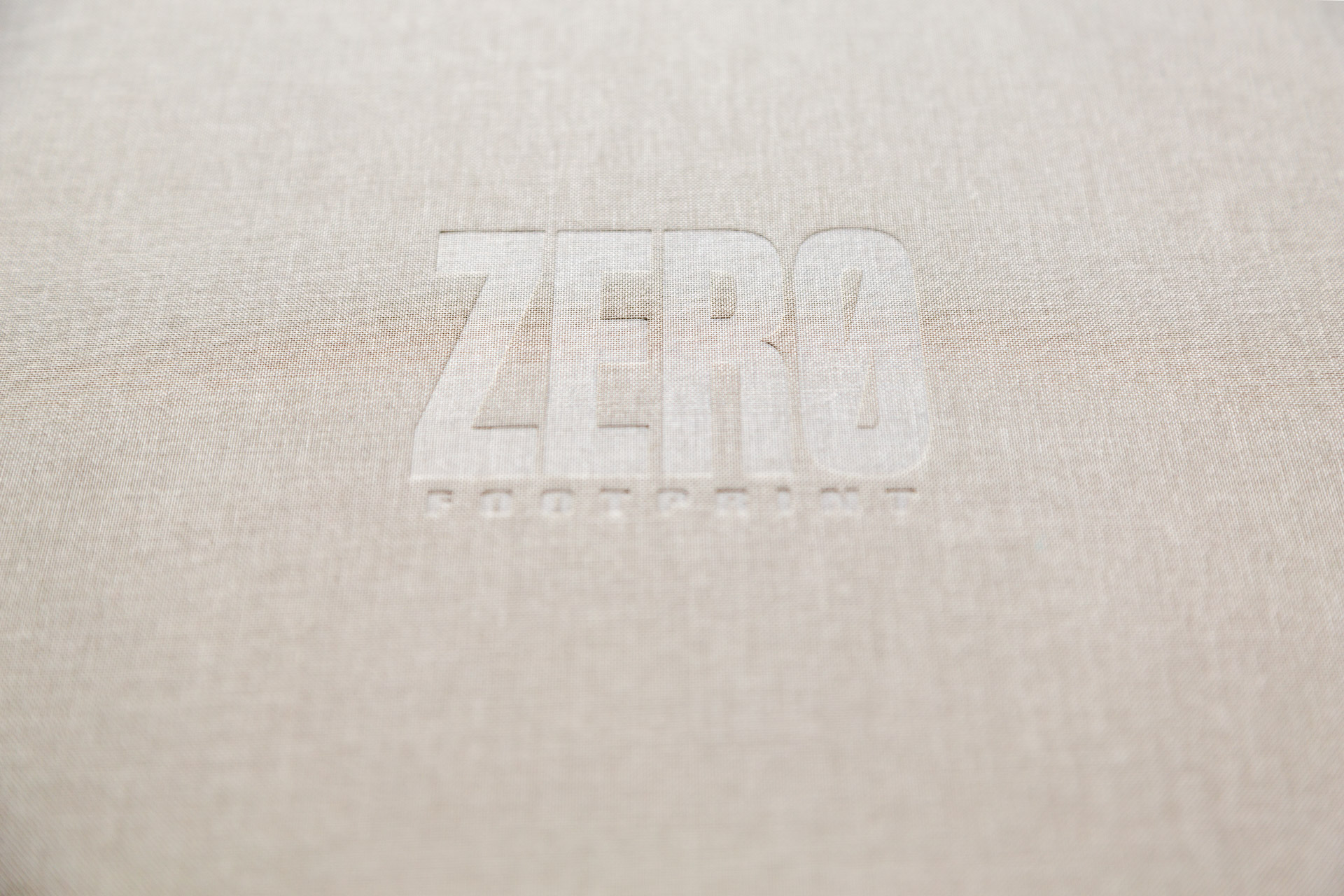 Cover of the photo book I won,   Zero Footprint,  by Leeming and Paterson.