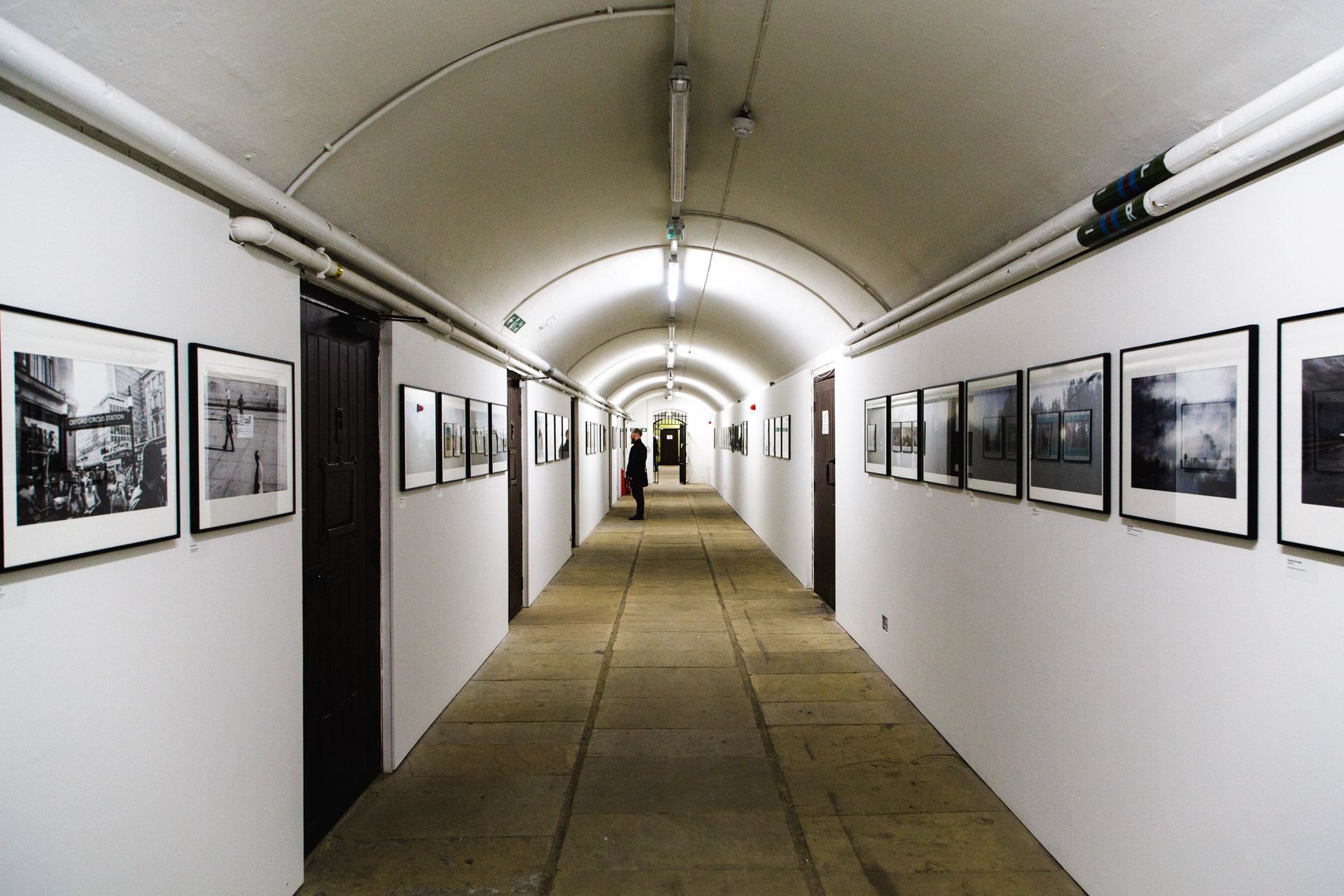 A selection of photos from finalists and winners of the 31st AOP Photography Awards line the hallway of The Dickens Gallery in St.George's Hall.