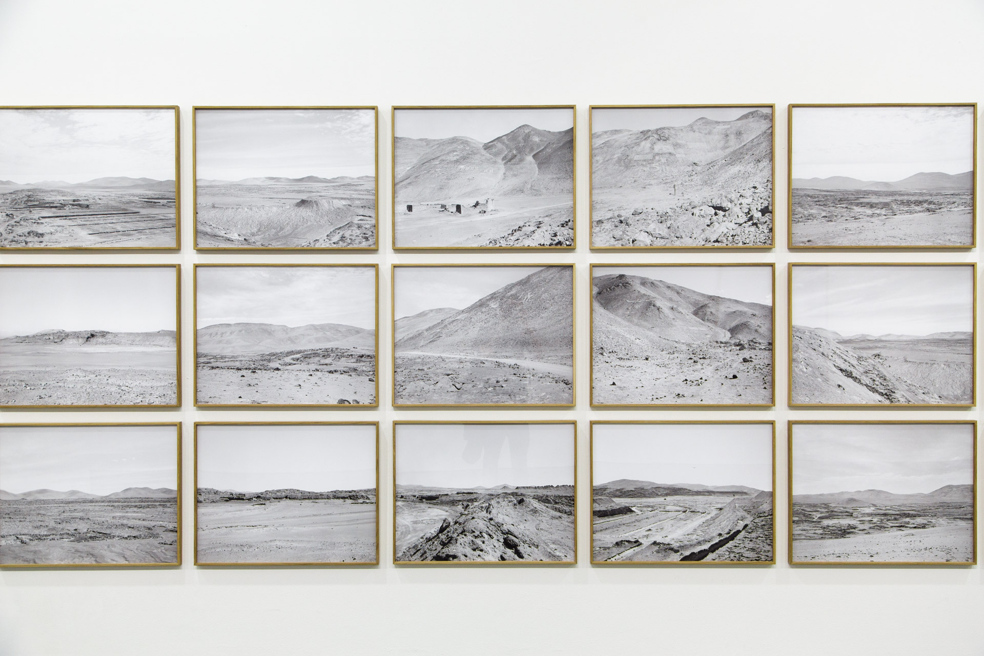 Xavier Ribas's landscape images were arranged in an interesting way; disjointed yet connected.