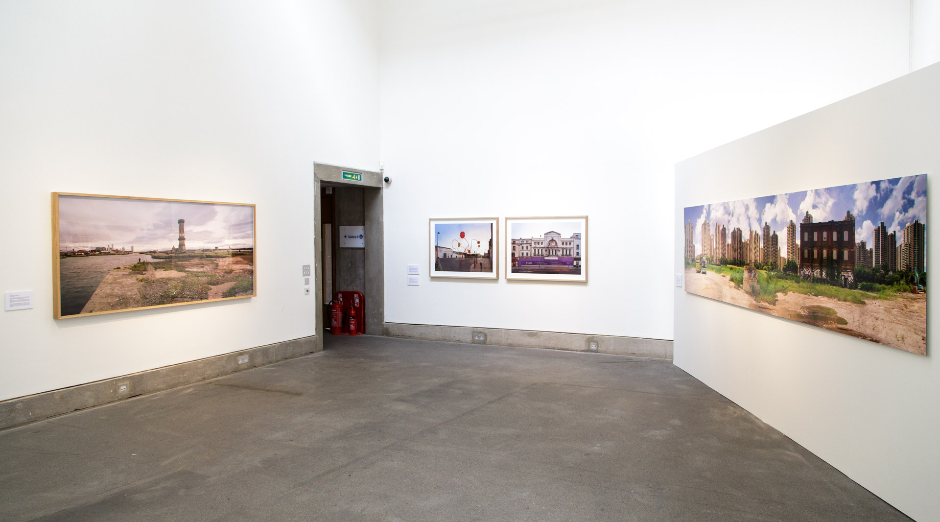 Tabitha Jussa (2014 Liverpool Art Prize winner) displayed impressive panoramic photos of places in Liverpool and Shanghai.