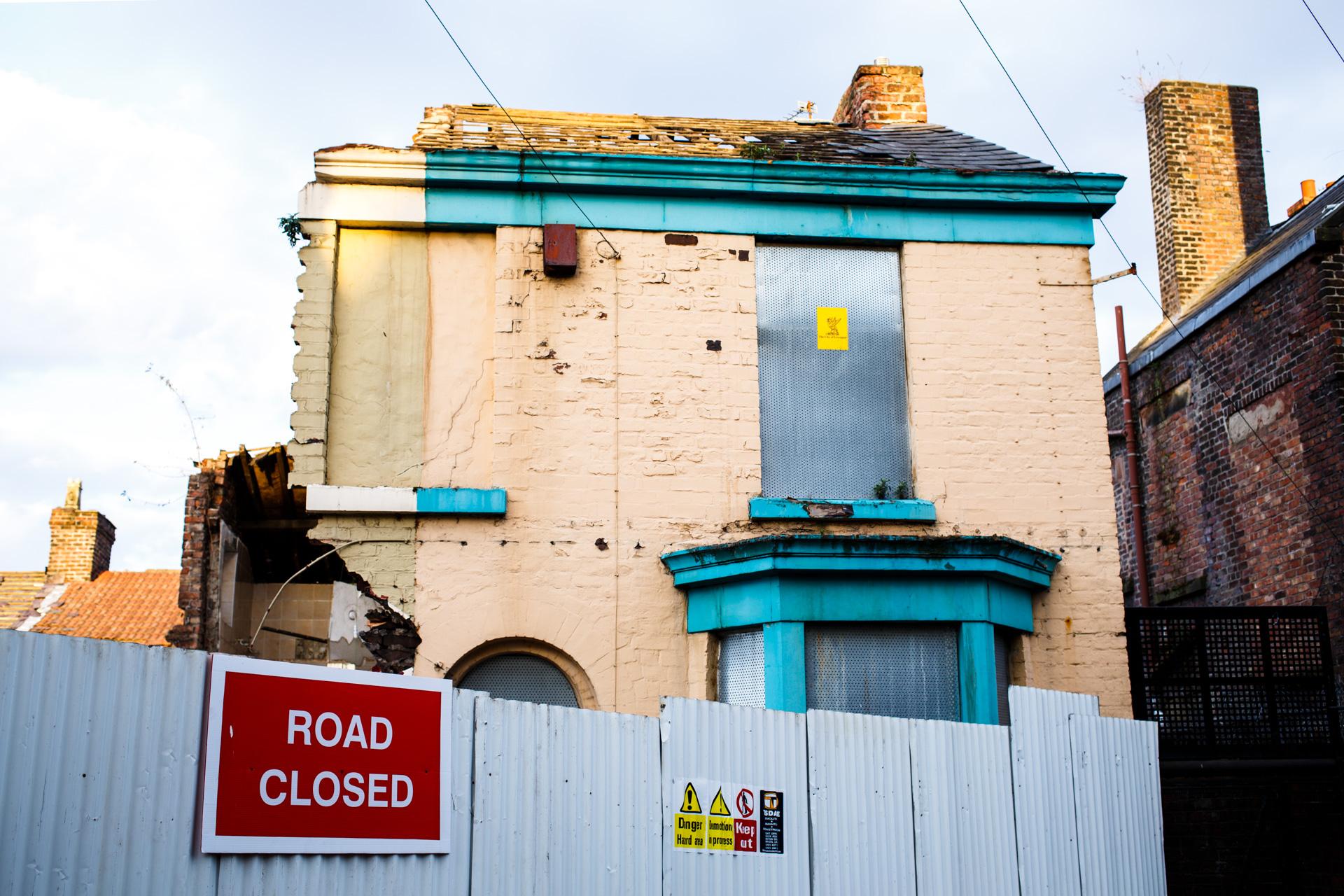 April 2013 - a house gets taken apart.