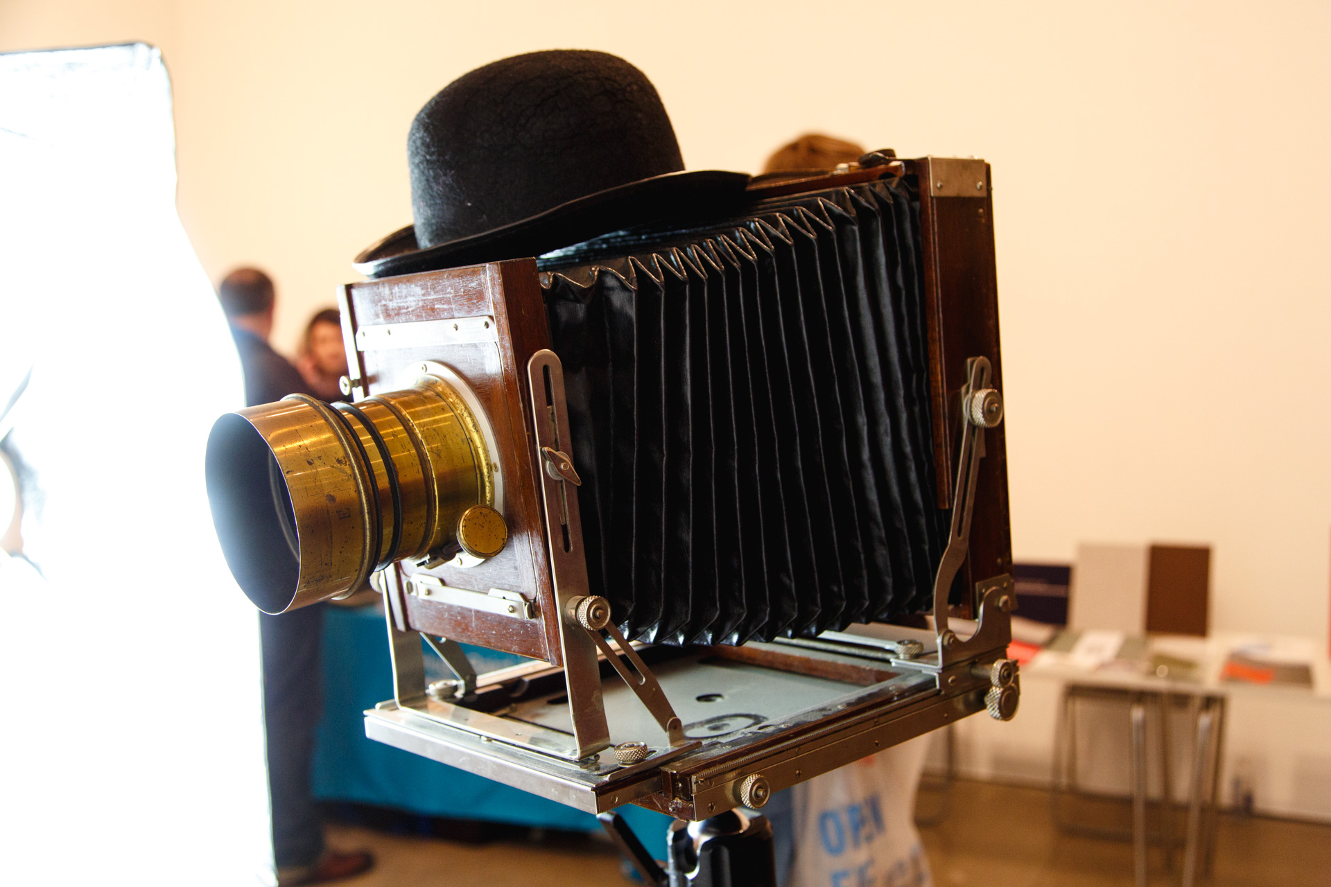 John's large-format camera and Petzval lens.