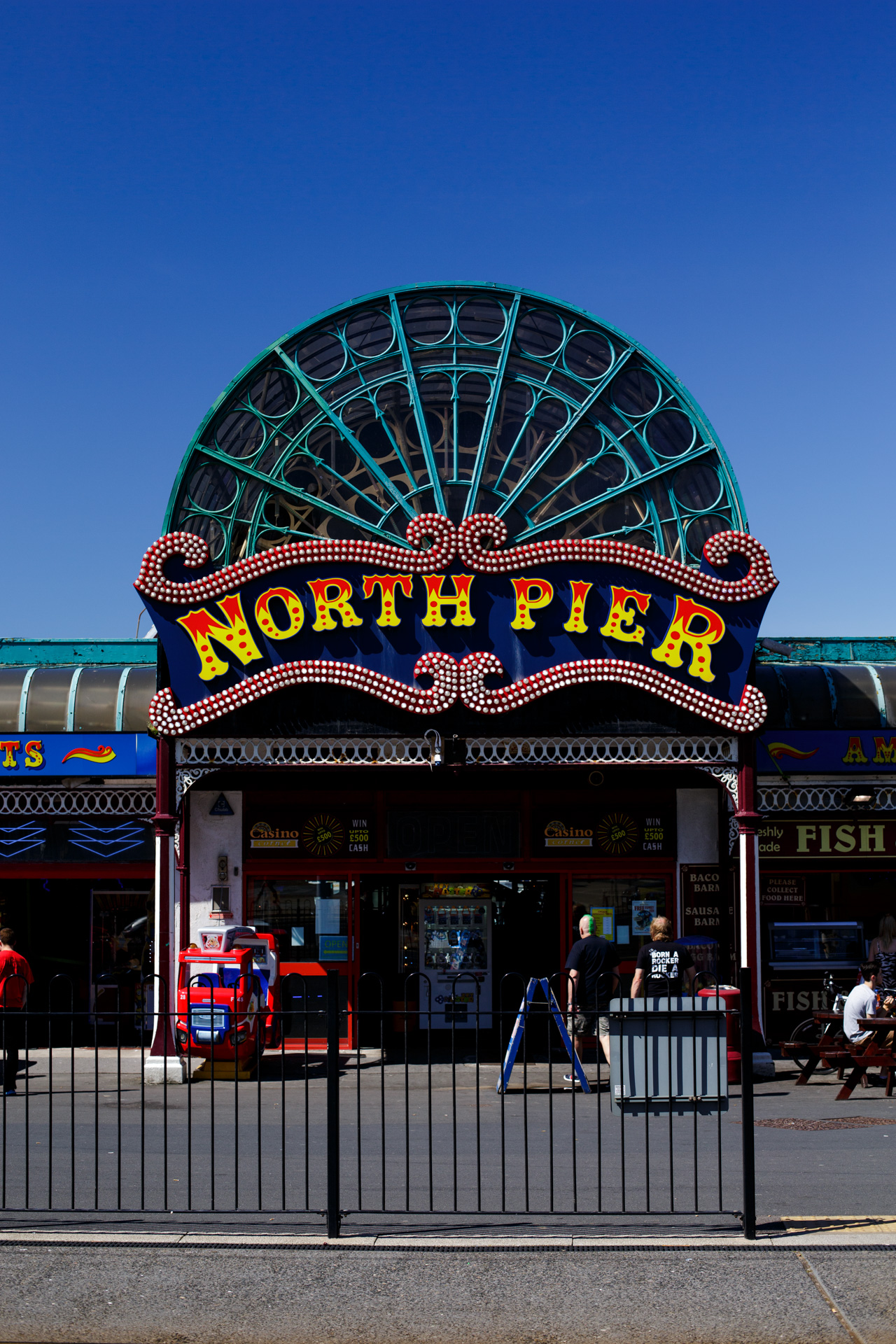 The North Pier entrance - taken with my DSLR.