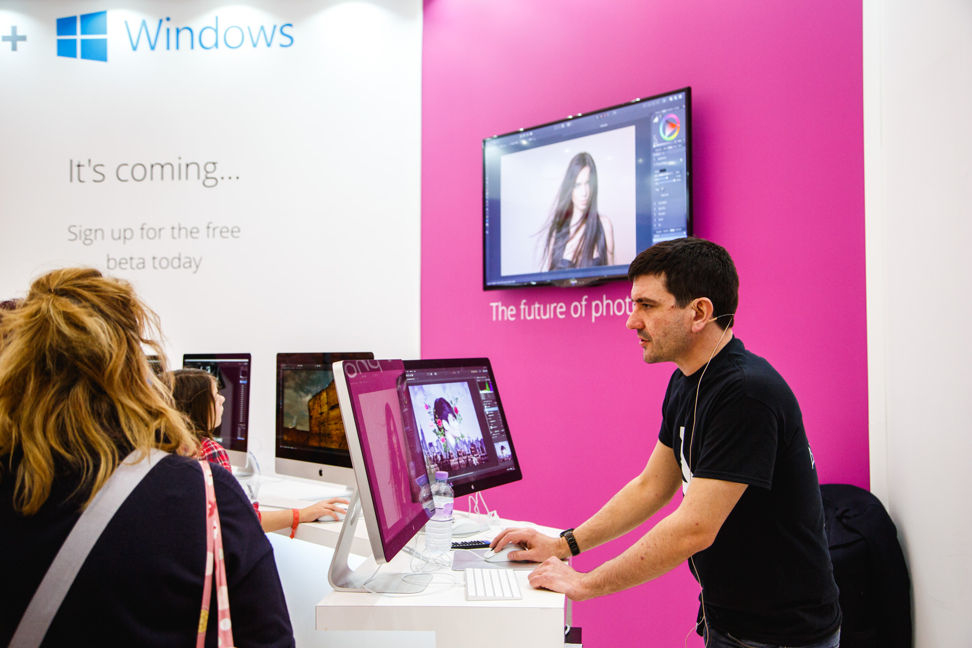 Affinity  impressed me at their stand with a well-presented demo of a few features of their slick Photoshop-rivalling software. Affinity won the best Mac app of 2015, and with a Windows version on the way I think they are set to do well on the PC platform.