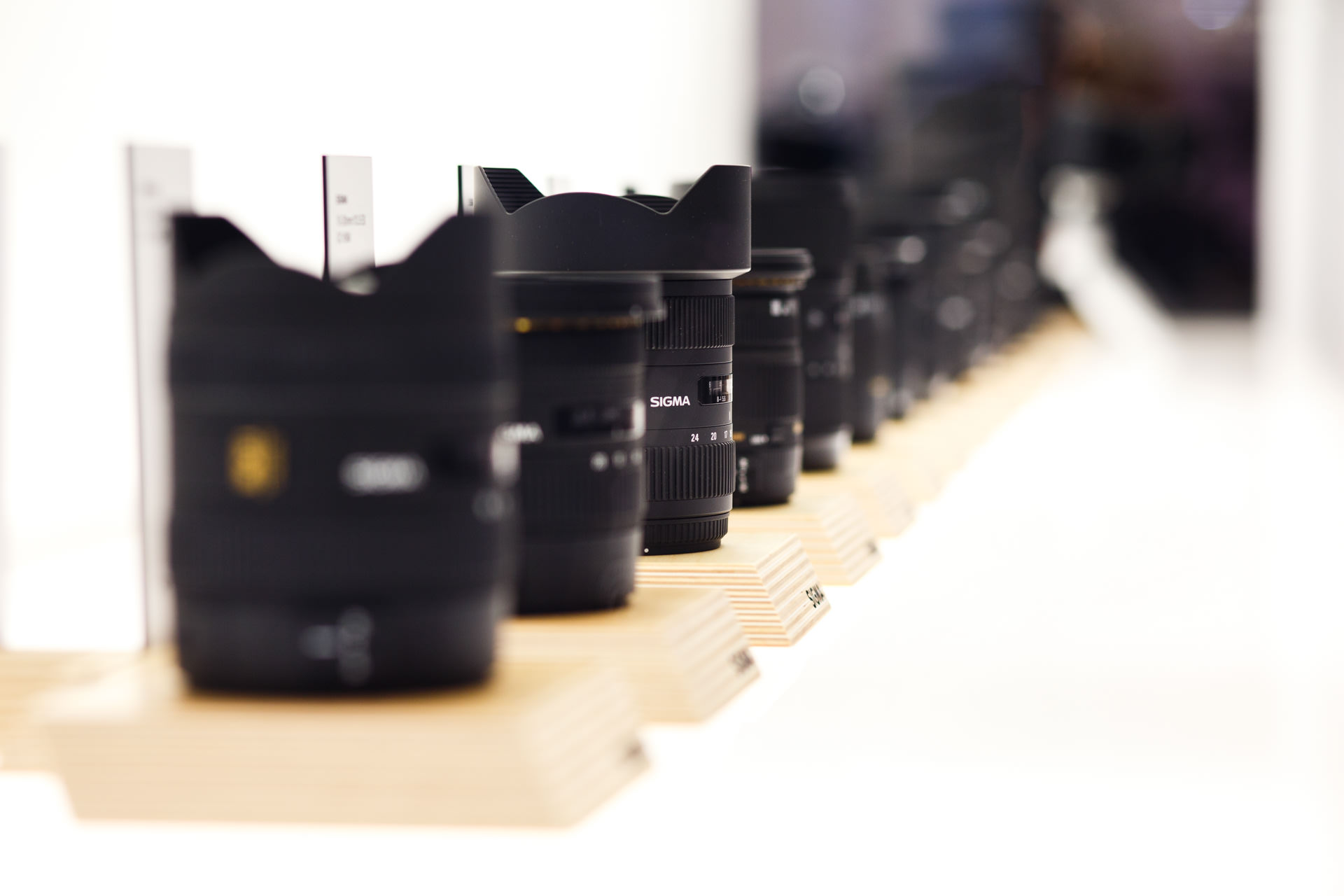 Amongst some of the typical products you would expect at the show like these Sigma lenses...
