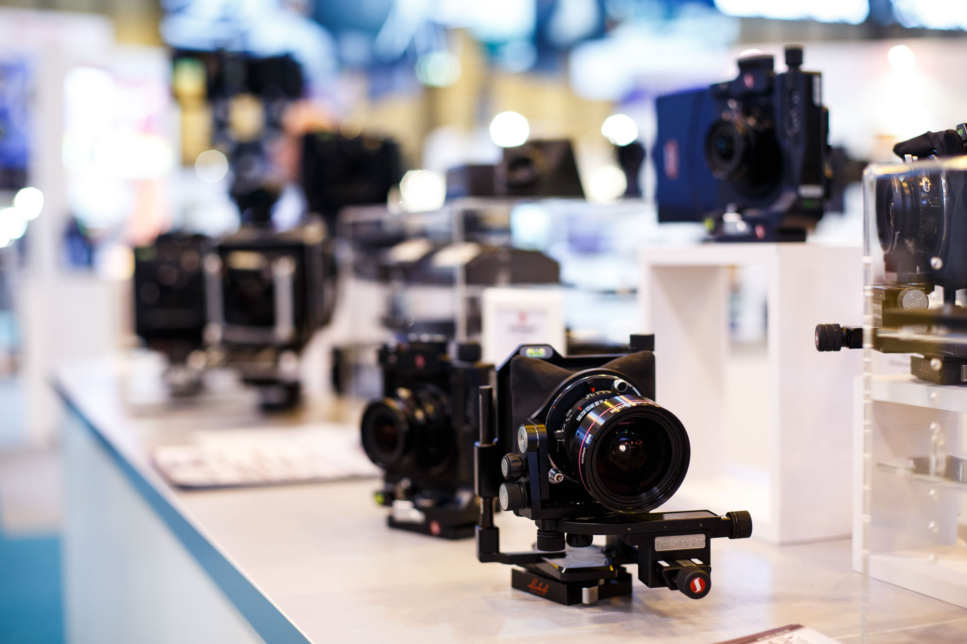 Cameras by  Linhof  and  Cambo  caught my attention,combining traditional and modern photographic technologies...