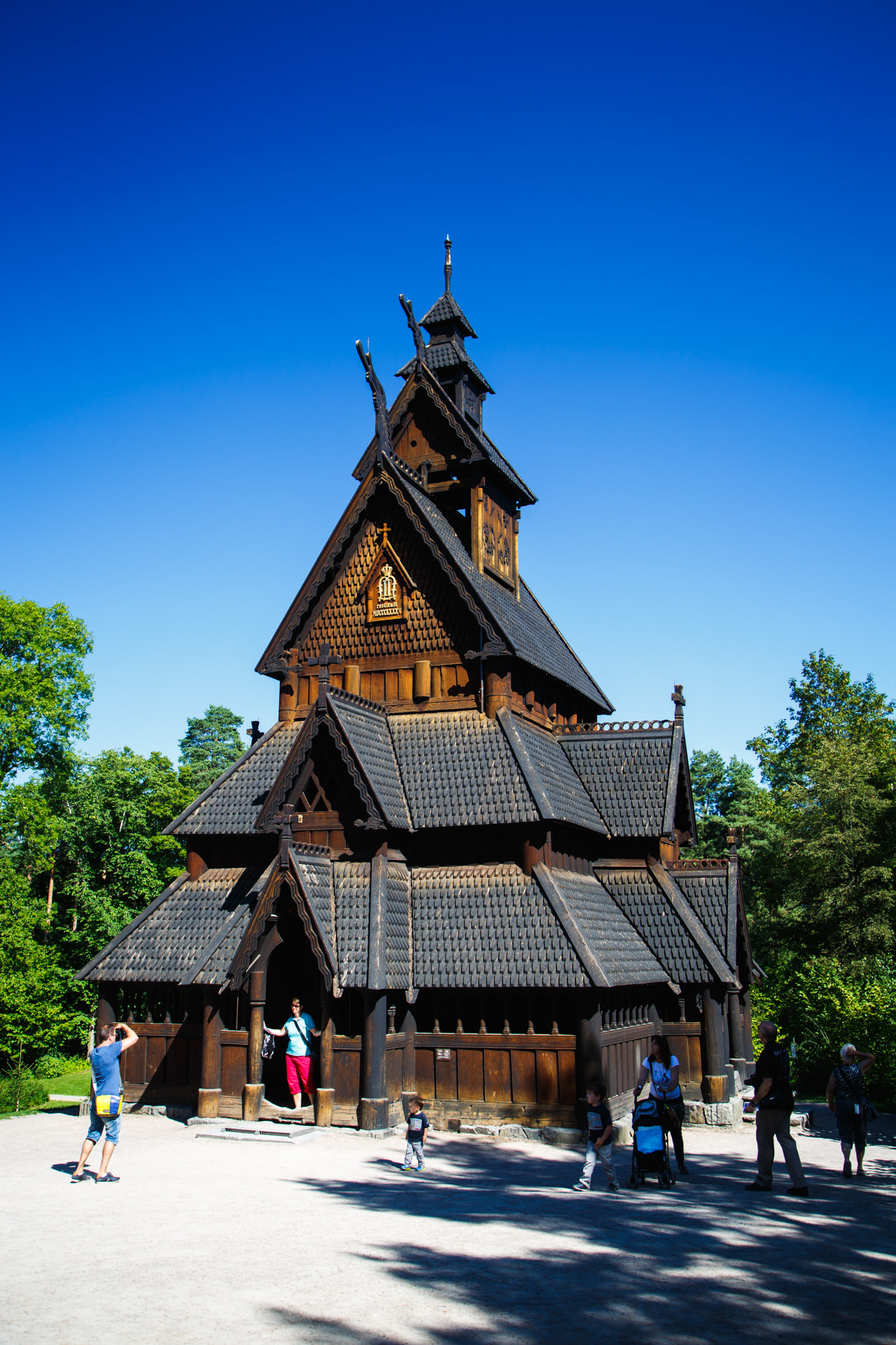 This Stave Church was built in the 12th century in Gol and relocated to Oslo in 1884.  Read more about it here .