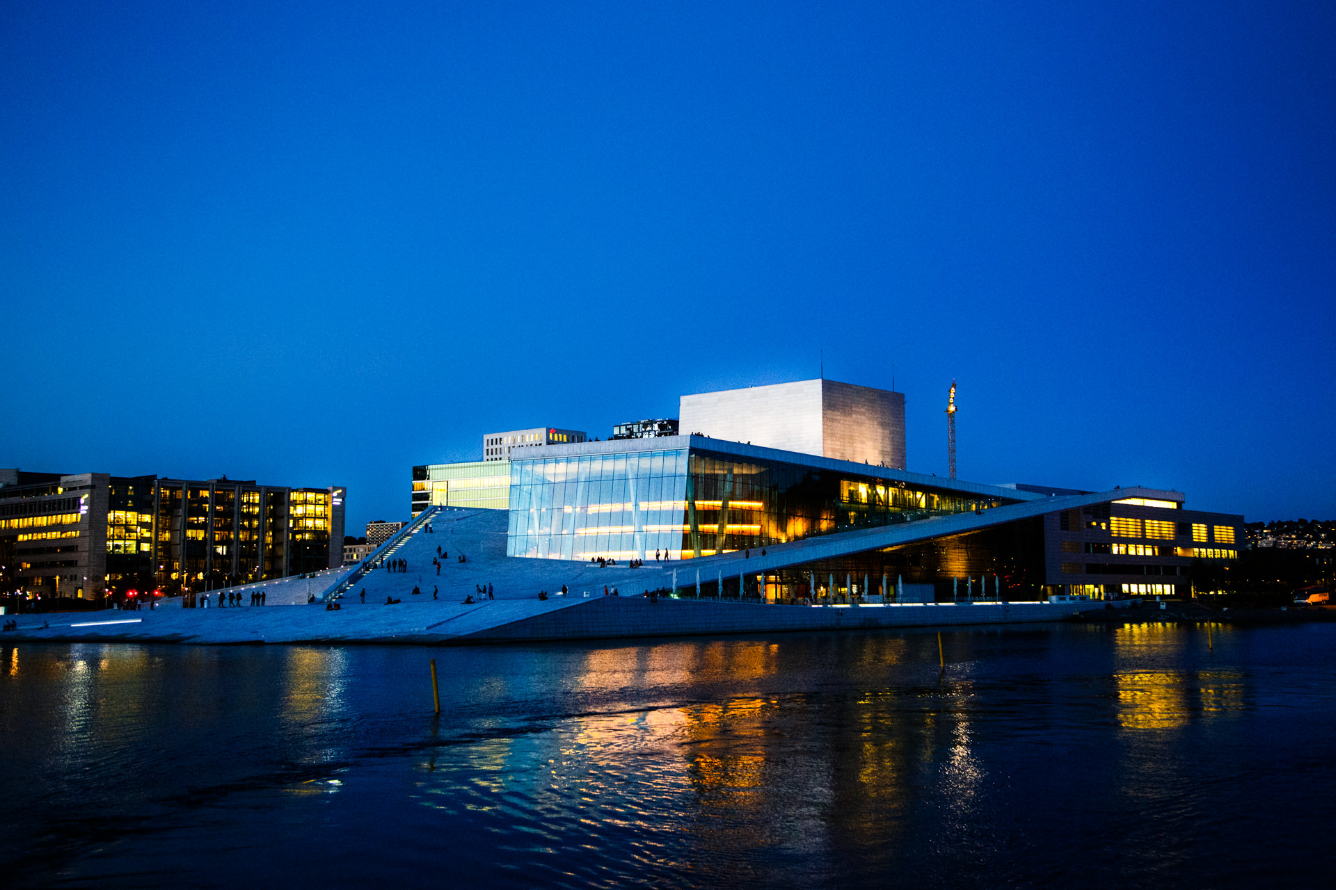 The  Oslo Opera House  as the tour draws to a close.