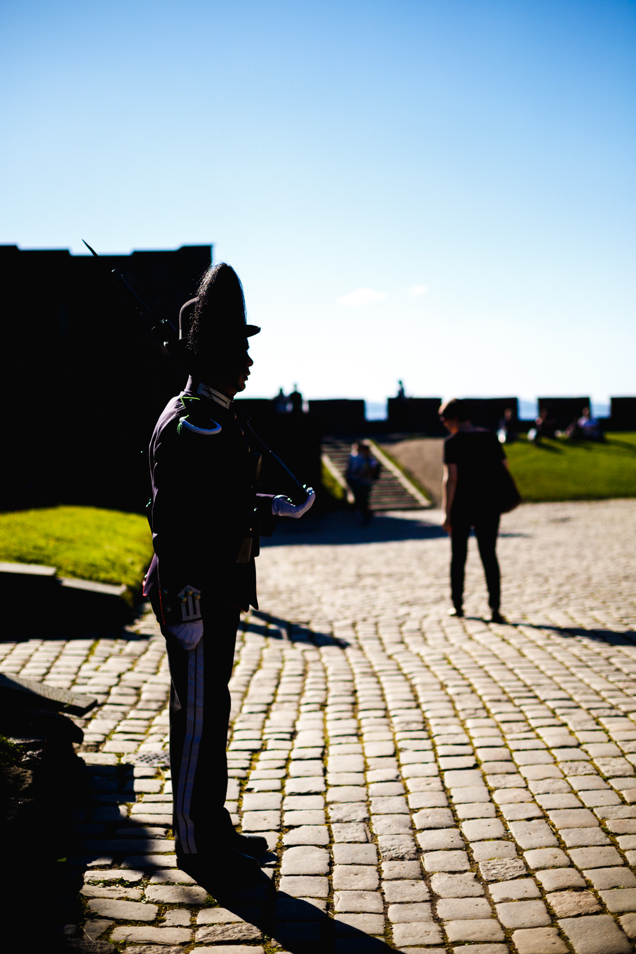 A guard doing what he does best at the  Akershus Castle .