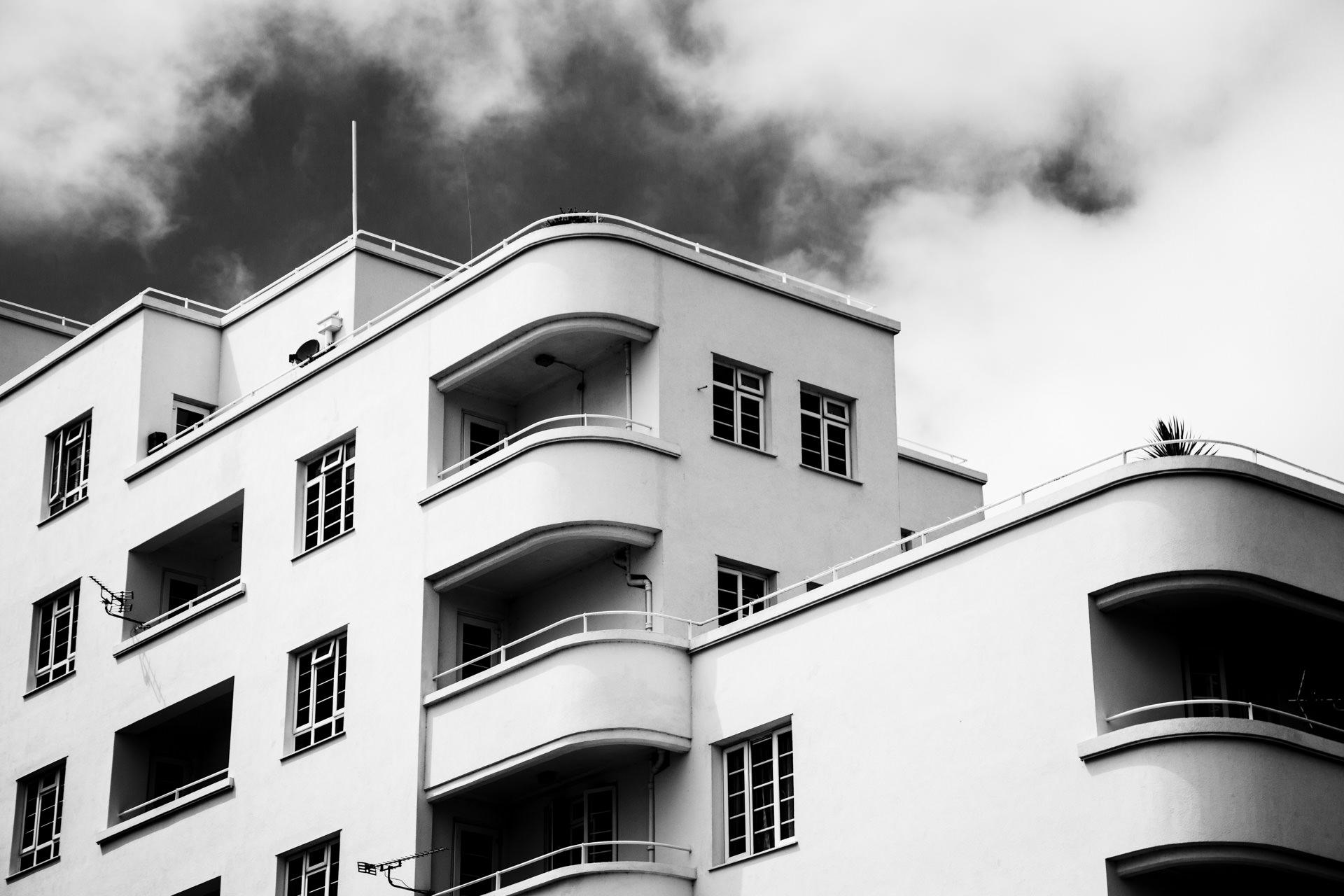 Art deco-style apartment building.