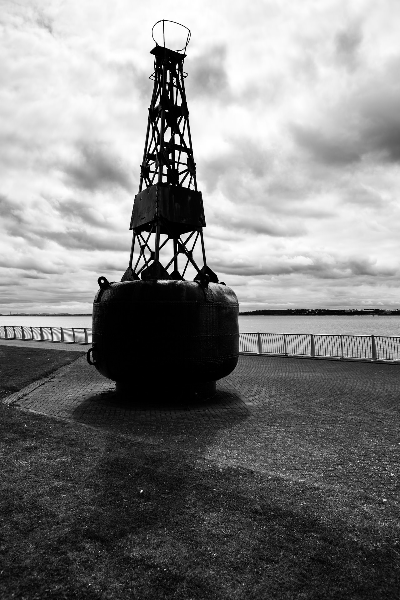 A towering buoy.