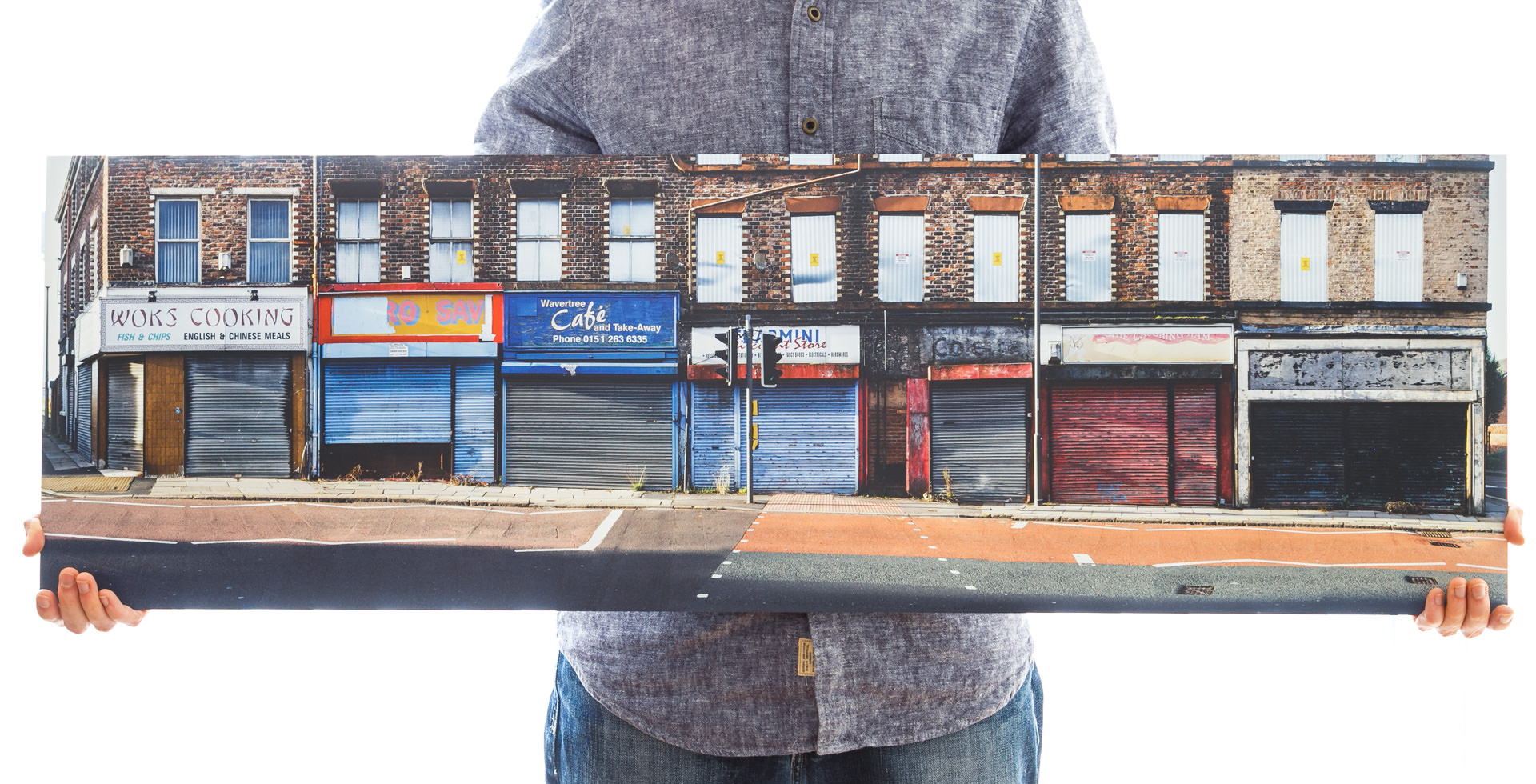 'Shutters & Signs' (112x35cm - £150)