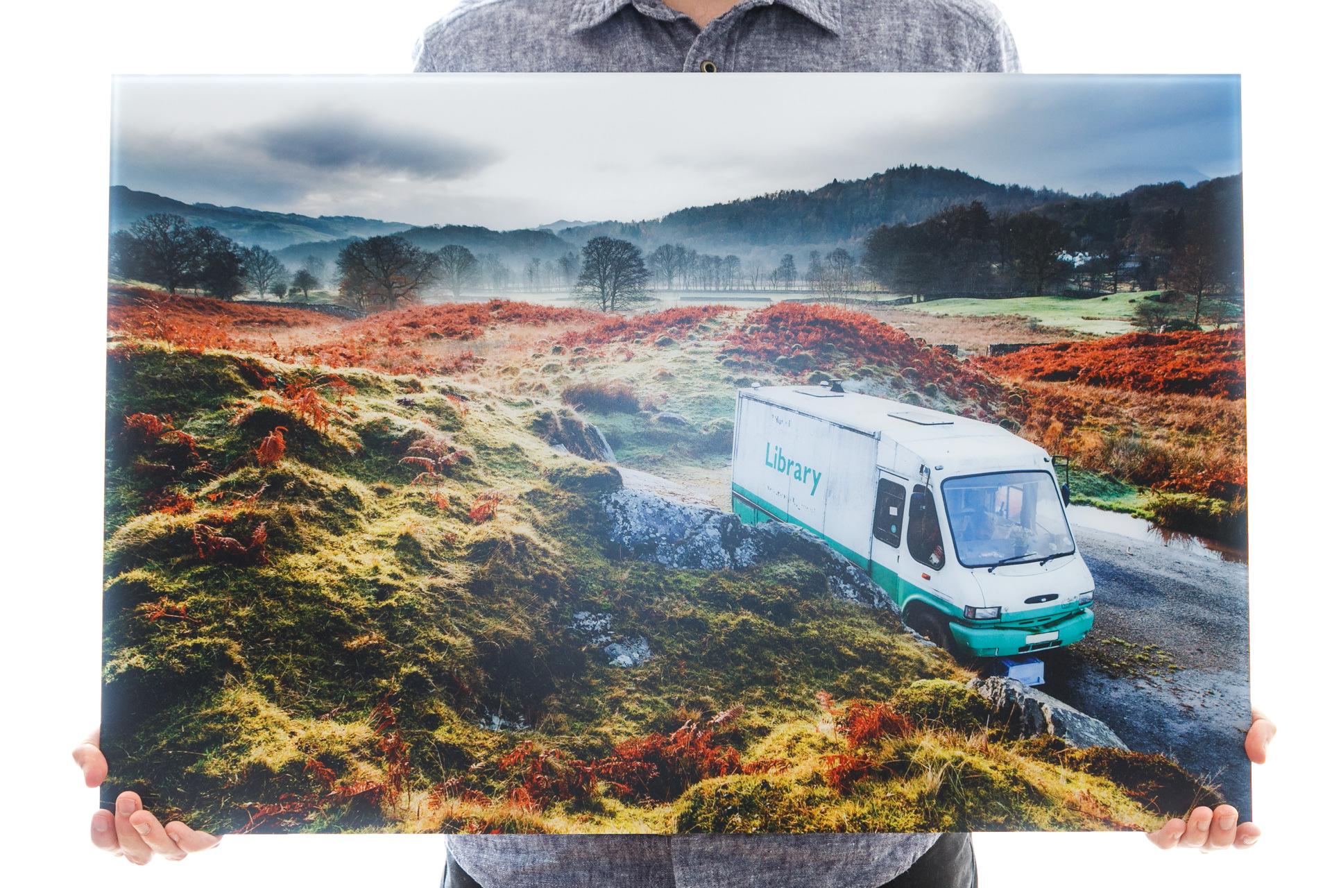 'The Library Van' (75x50cm - £265)