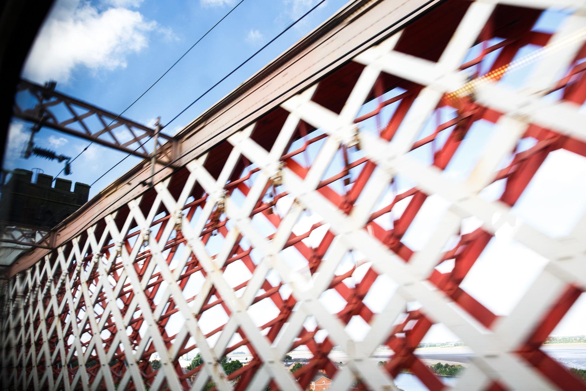 Crossing the Runcorn bridge back to...