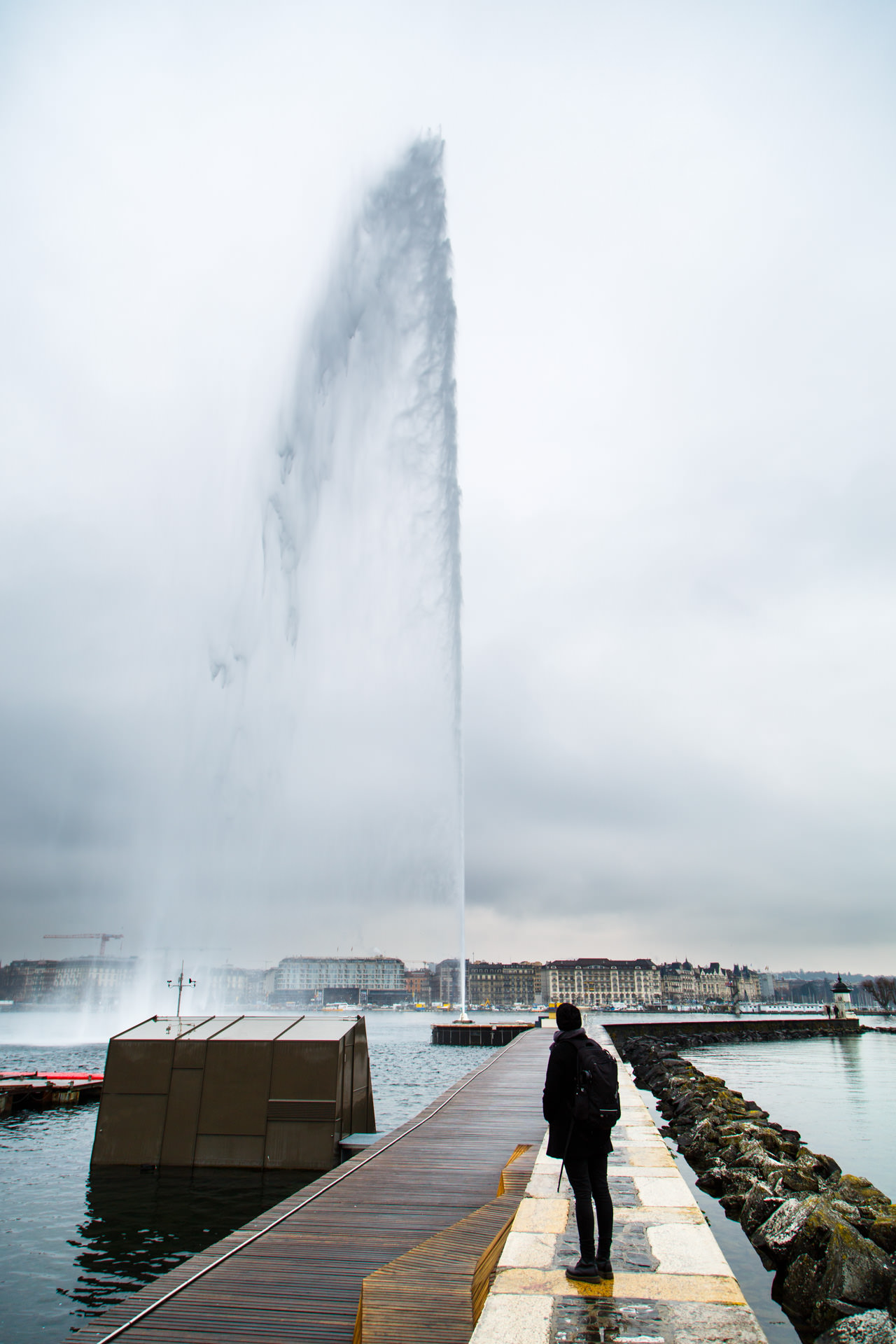 Day two began with us taking a closer look at the Jet d'Eau. It reaches a max height of 140 metres! Click  here  to find out more about it.