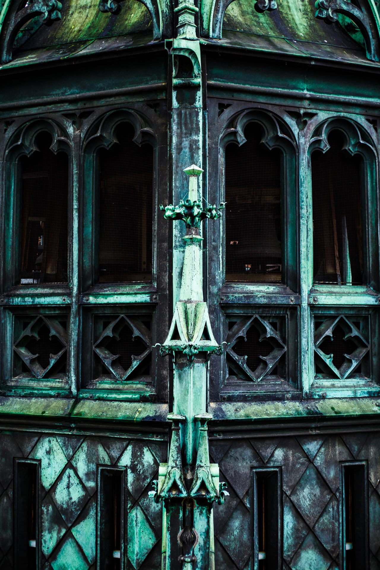 Detail of the main spire.