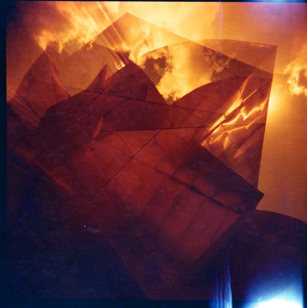 While traveling in Minneapolis recently, my 35mm camera stopped working. I was very disappointed because the Weissman Art Center is so beautiful. At least I was able to capture it on my Holga, with Lomography Redscale film.