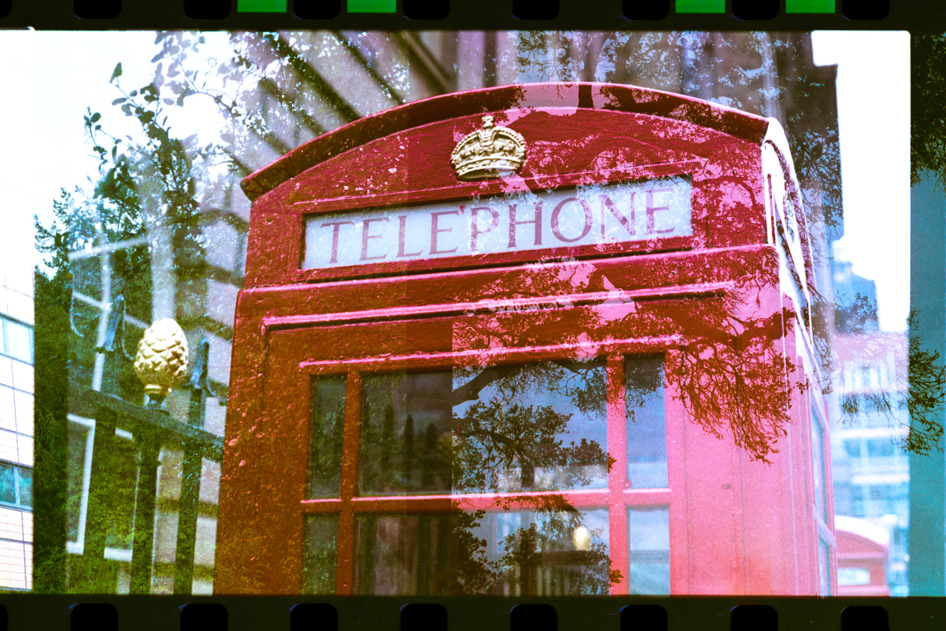 Telephone box at Exchange Flags, Liverpool.