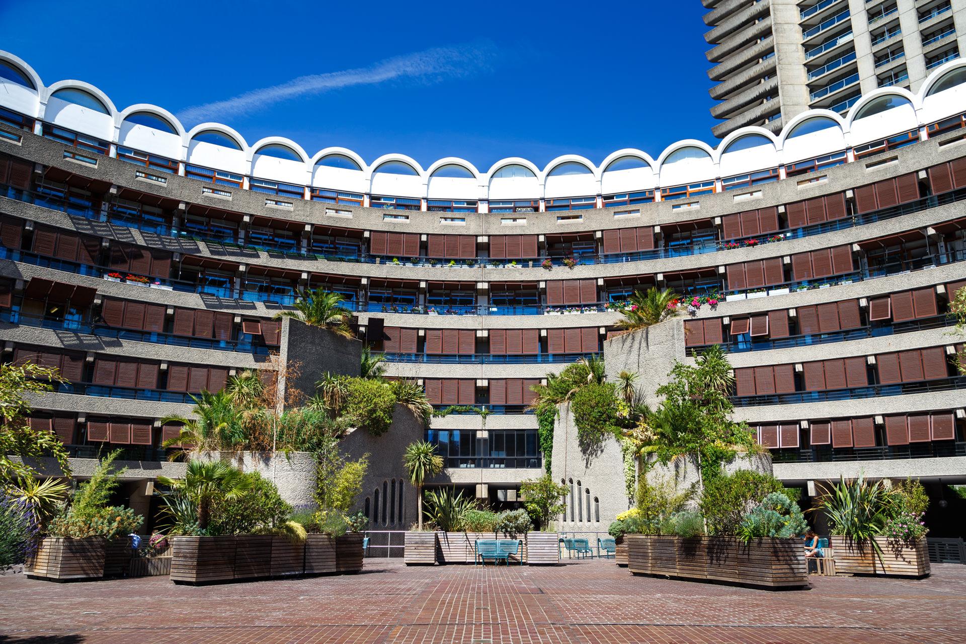 The concrete jungle of the Barbican Estate.