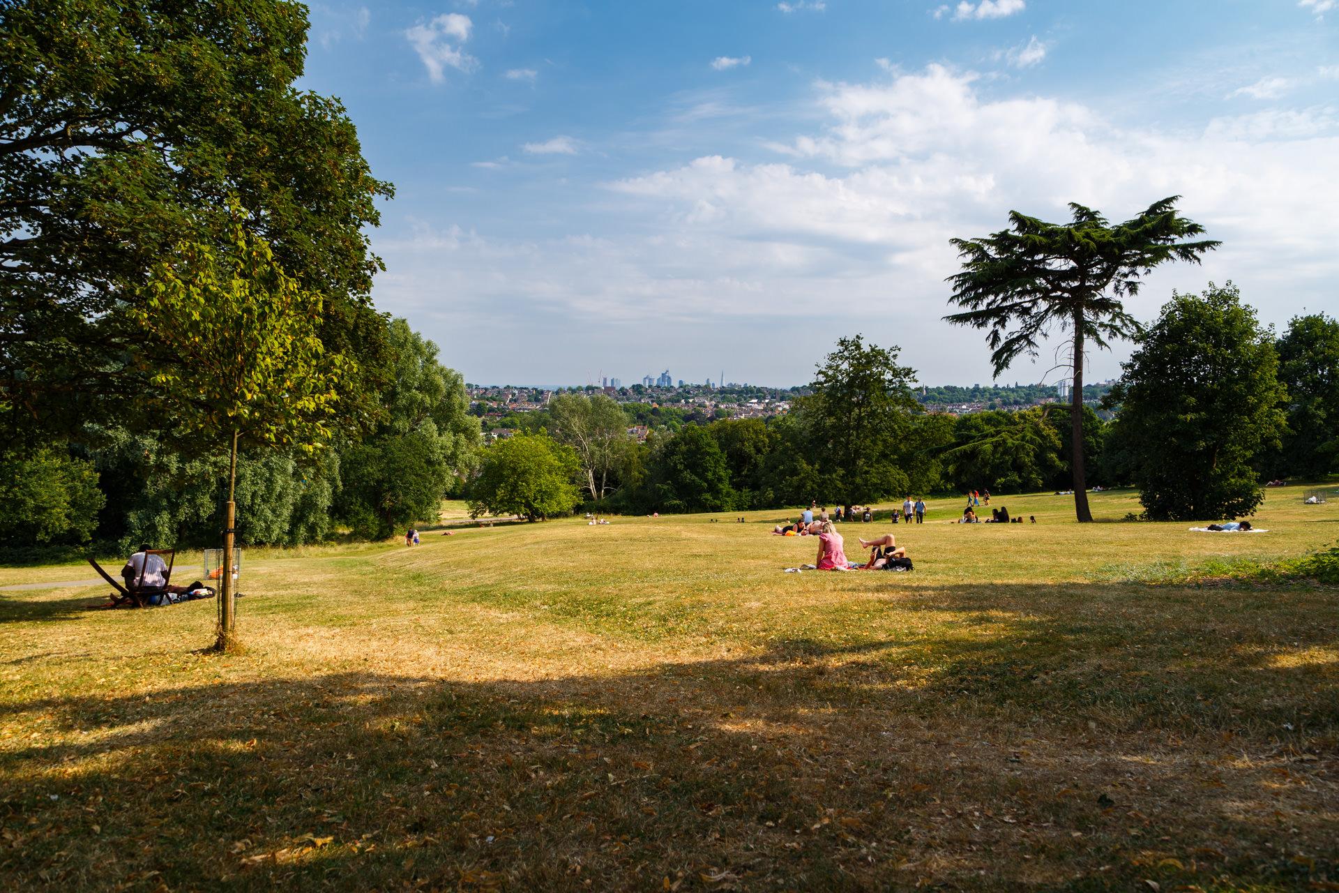 Relaxing at Alexandra Palace Park…