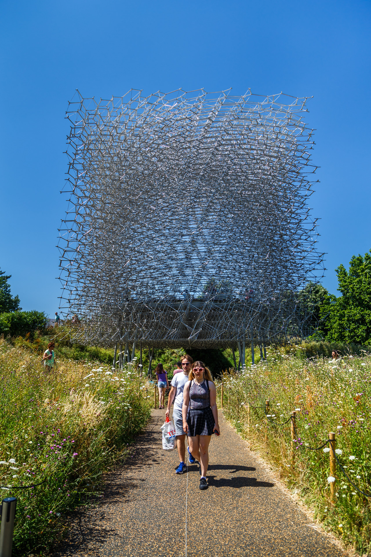 The Hive designed by UK-based artist Wolfgang Buttress.
