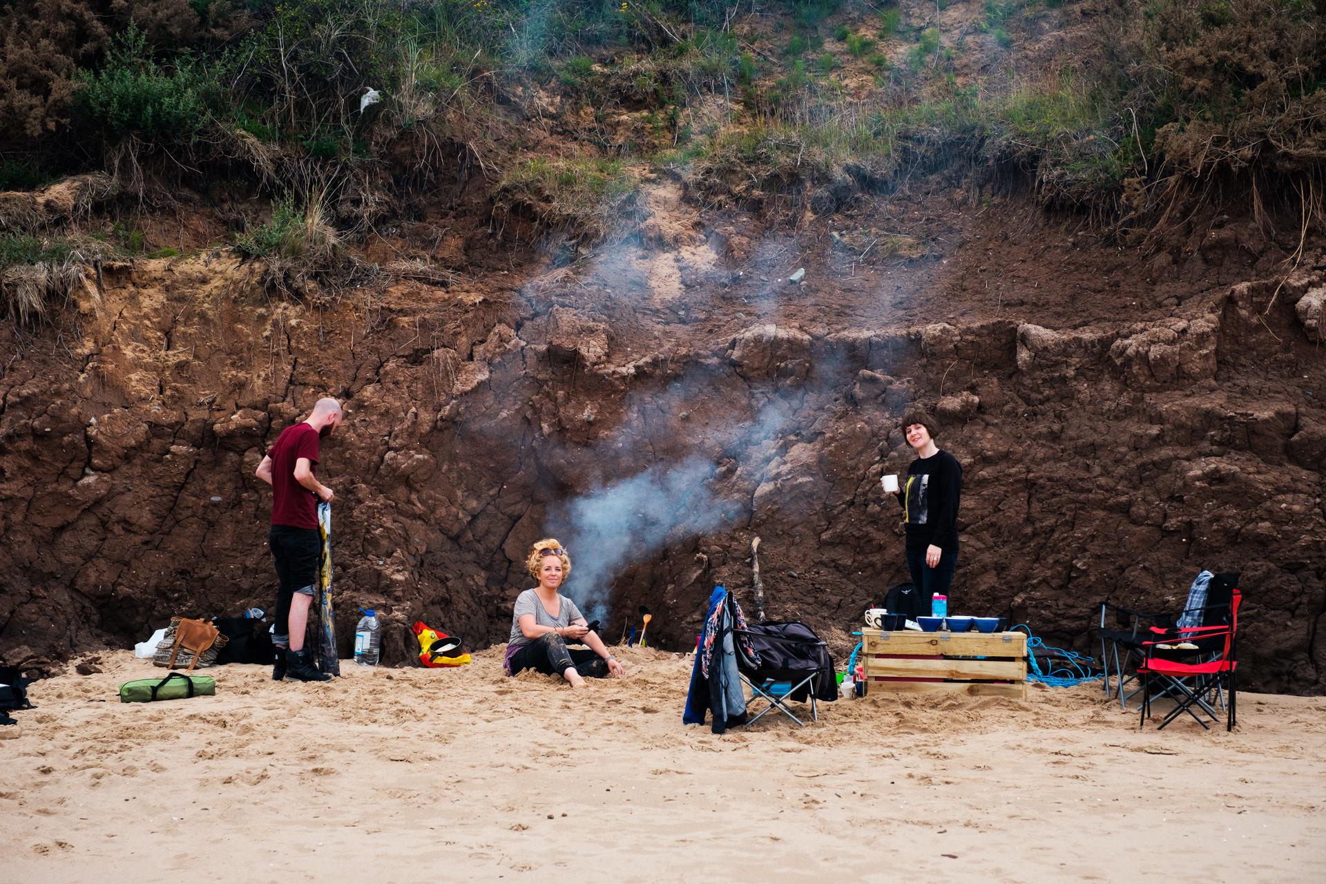 ...followed by chilling out on Lligwy beach...