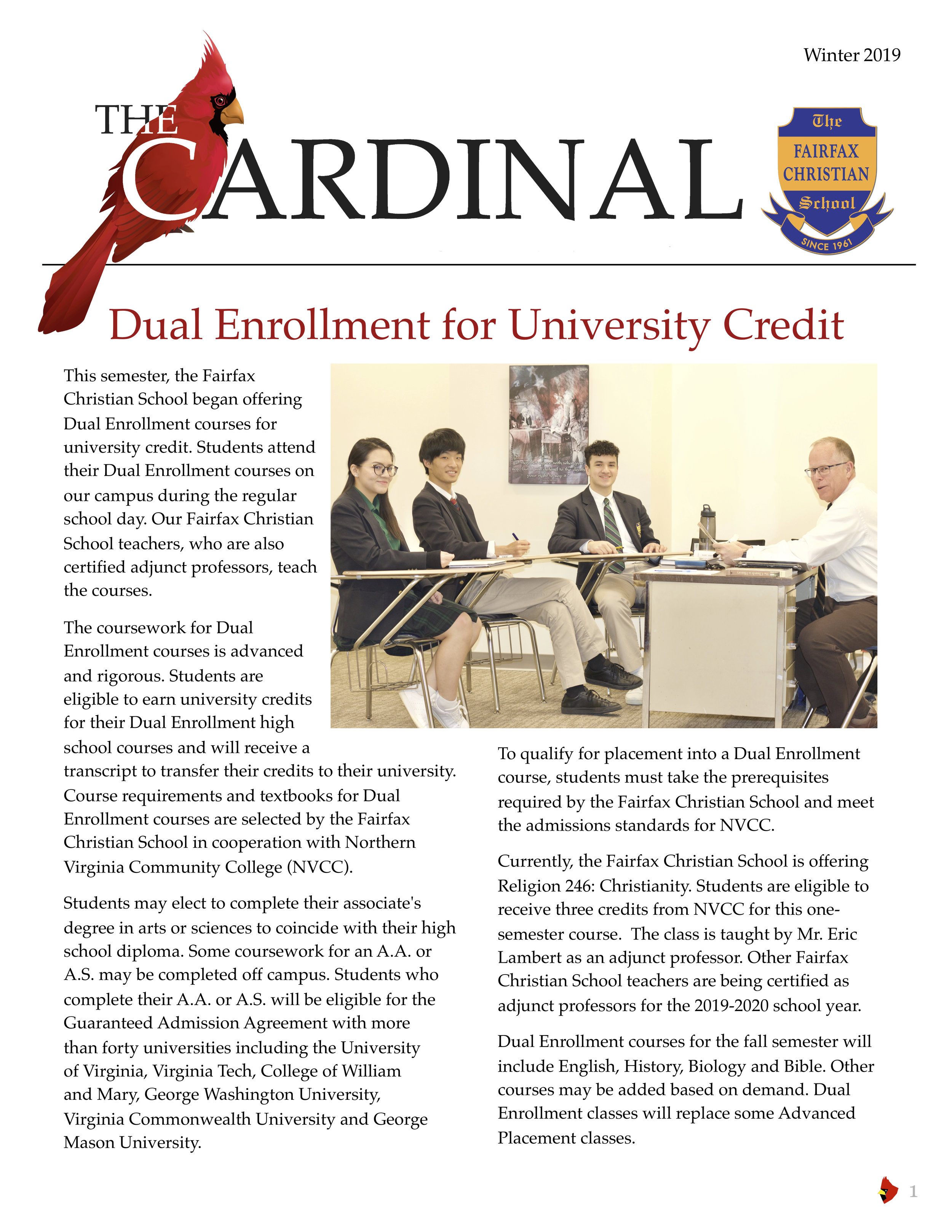 The Cardinal Winter 2019