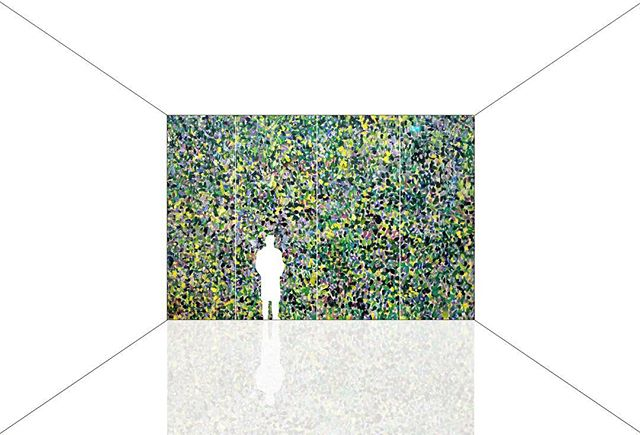 A drawing for spring - A room for viewing a Gustav Klimt landscape.