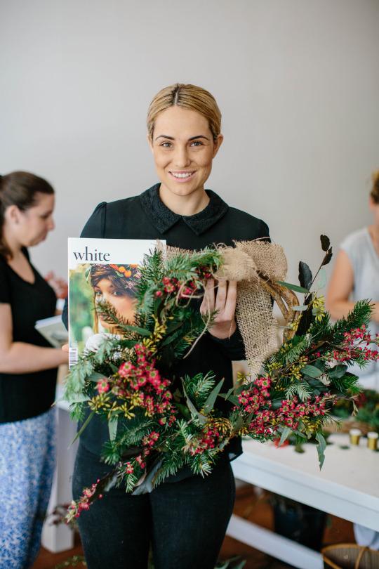 FloraFolk Wedding Florist Sydney Christmas Workshop White Magazine 1
