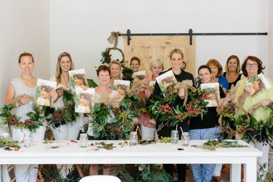 FloraFolk Wedding Florist Sydney Christmas Workshop White Magazine