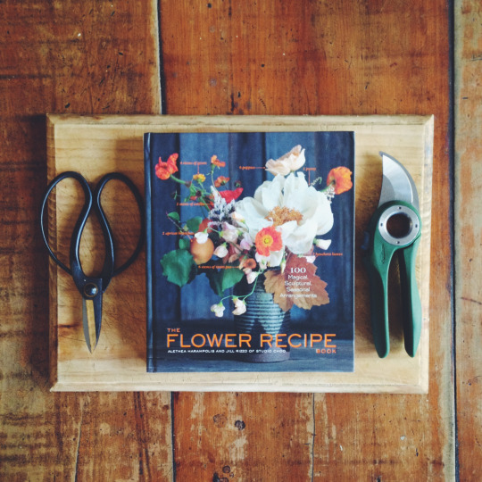 'The Flower Recipe Book' by  Studio Choo  is a must have, made up of cute recipes for flower arrangements which is just so lovely. You get a little overview of some of the basic tools that you need to work with in floristry and recommendations of flower materials to be your key ingredients. If you love that wild arrangement look and need some great tips then this book is for you.