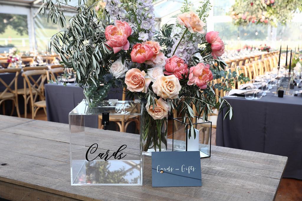 Front facing vase arrangement