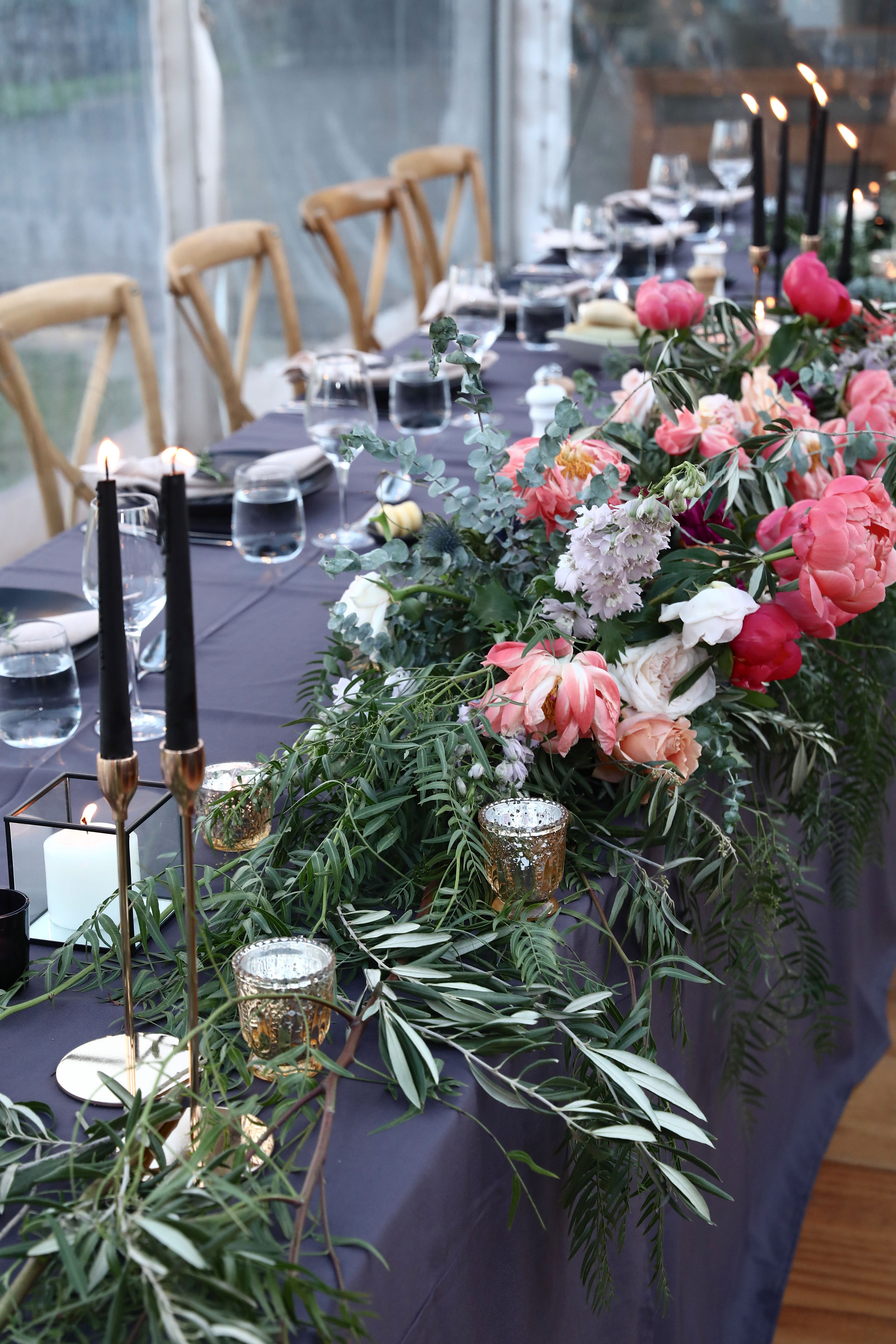 1m bridal table feature