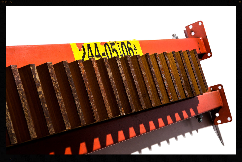 Industrial Gear 3D Wall Sculpture - Orange