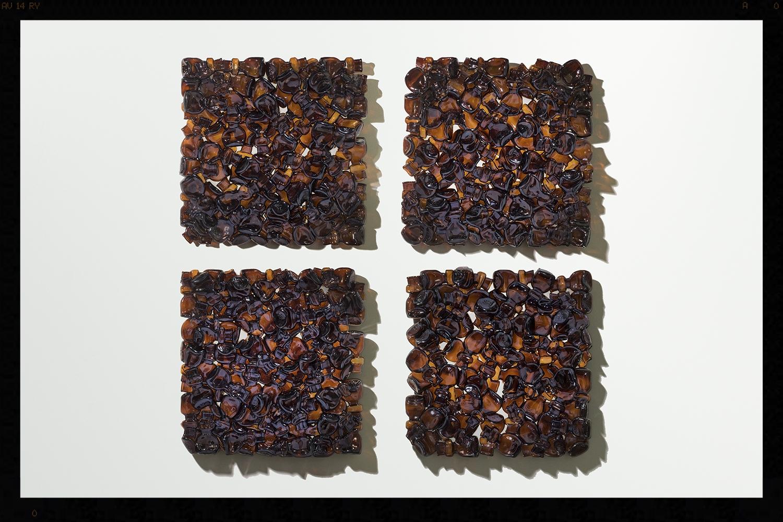 Amber Glass Bottle Tiles