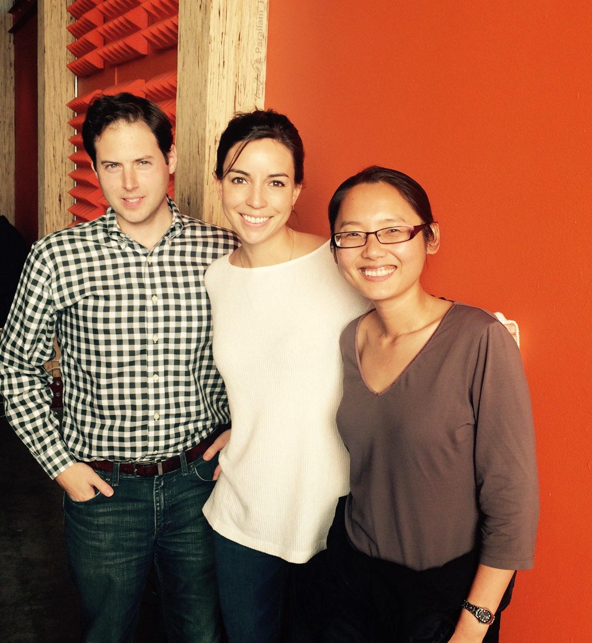 Oliver Staehelin,   Catherine Spence   and Xian Ke, co-founders of Pomello