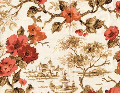 vintage drapery fabric