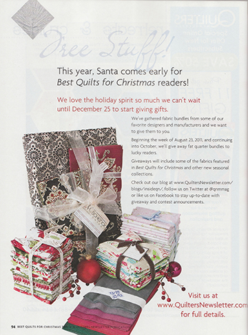 Best Quilts for Christmas '11 give away