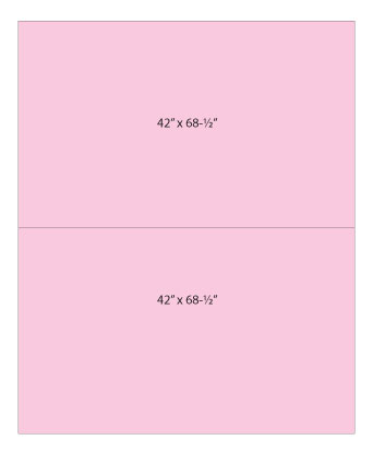 """Backing Diagram - NOTE: Sizes should read 42"""" x 70"""" on both panels with correction to quilt width"""