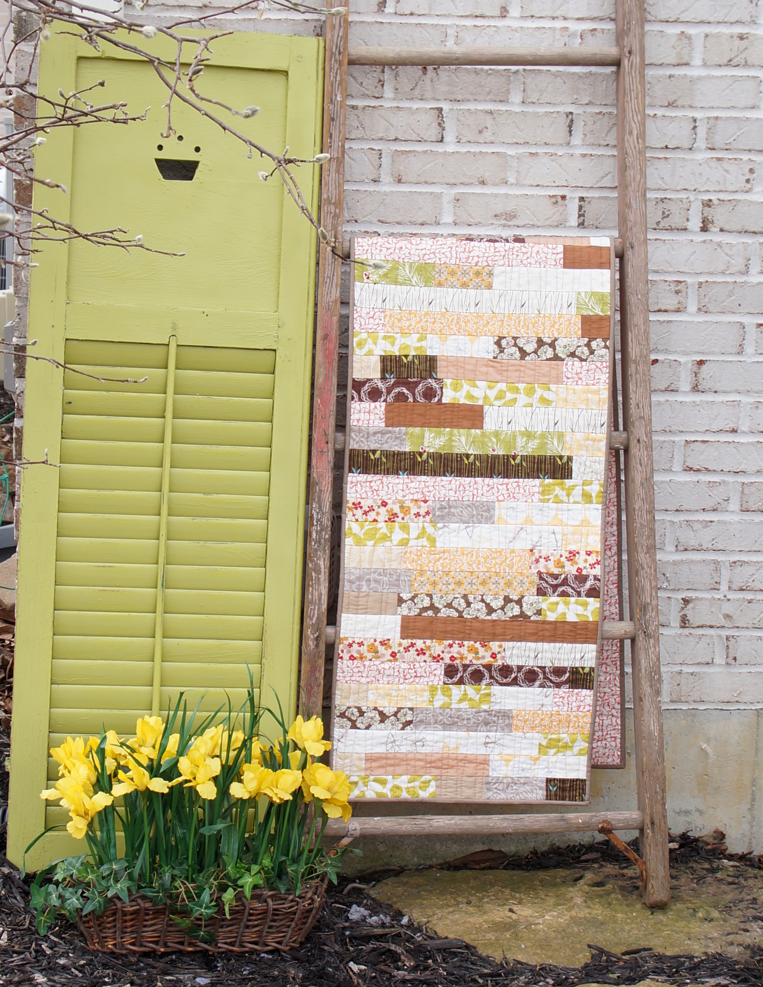 Stacked Strips table runner by Sharon Holland