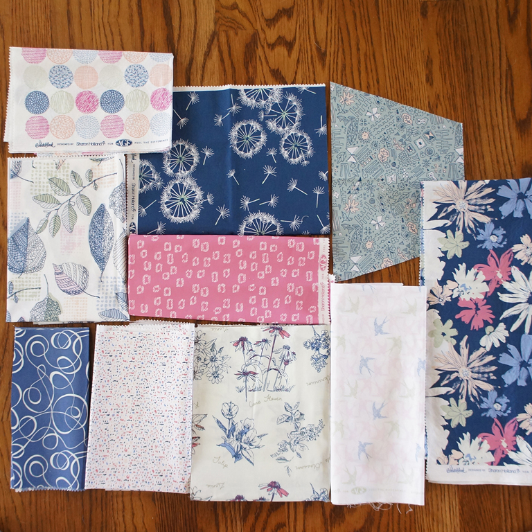 Sketchbook fabrics by Sharon Holland in the Studio color way