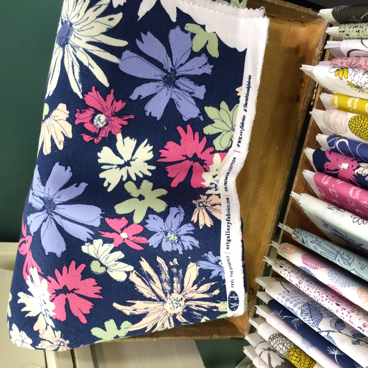 Ink Outburst Atelier Canvas by Sharon Holland for Art Gallery Fabrics