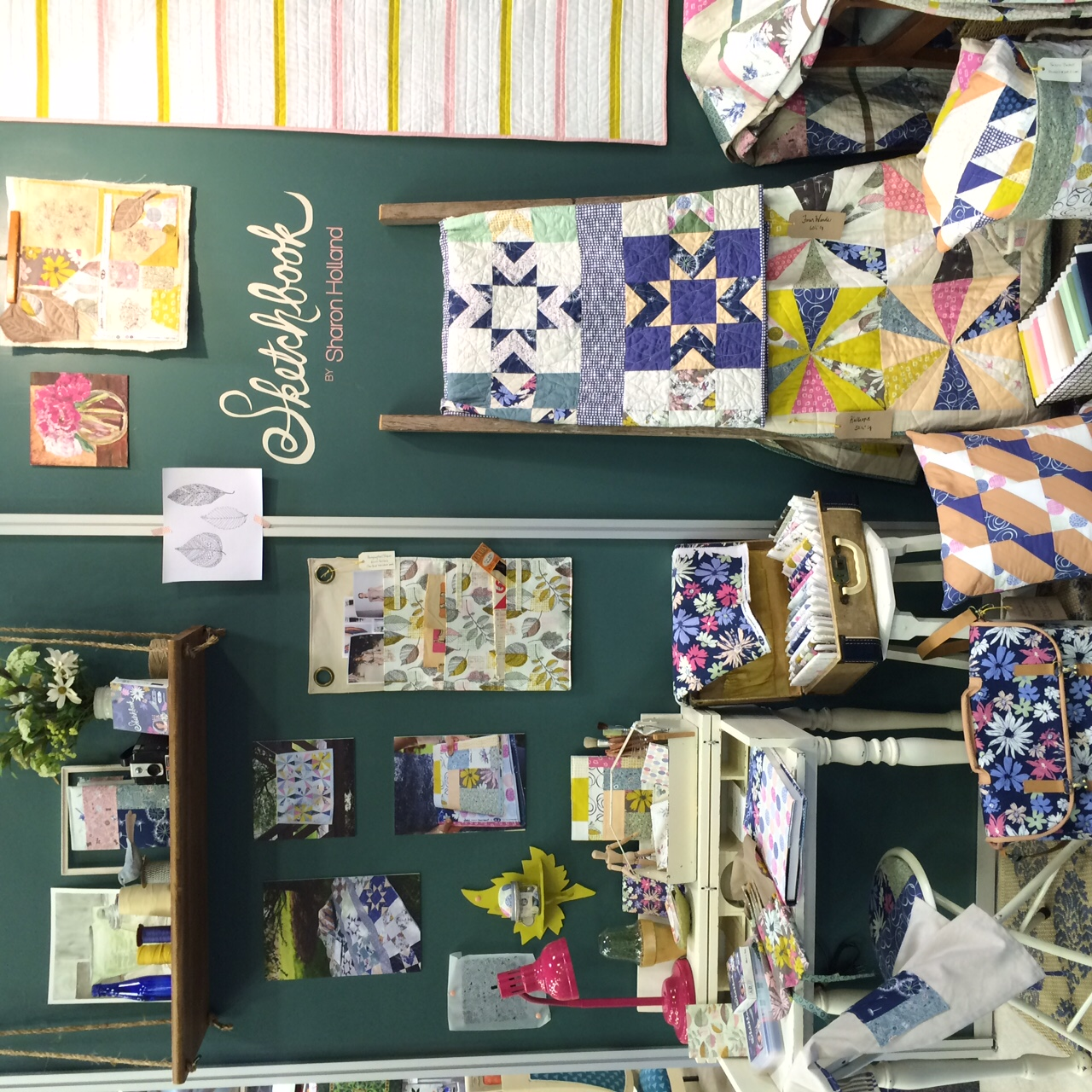 Quilt Market booth: Sketchbook by Sharon Holland for Art Gallery Fabrics