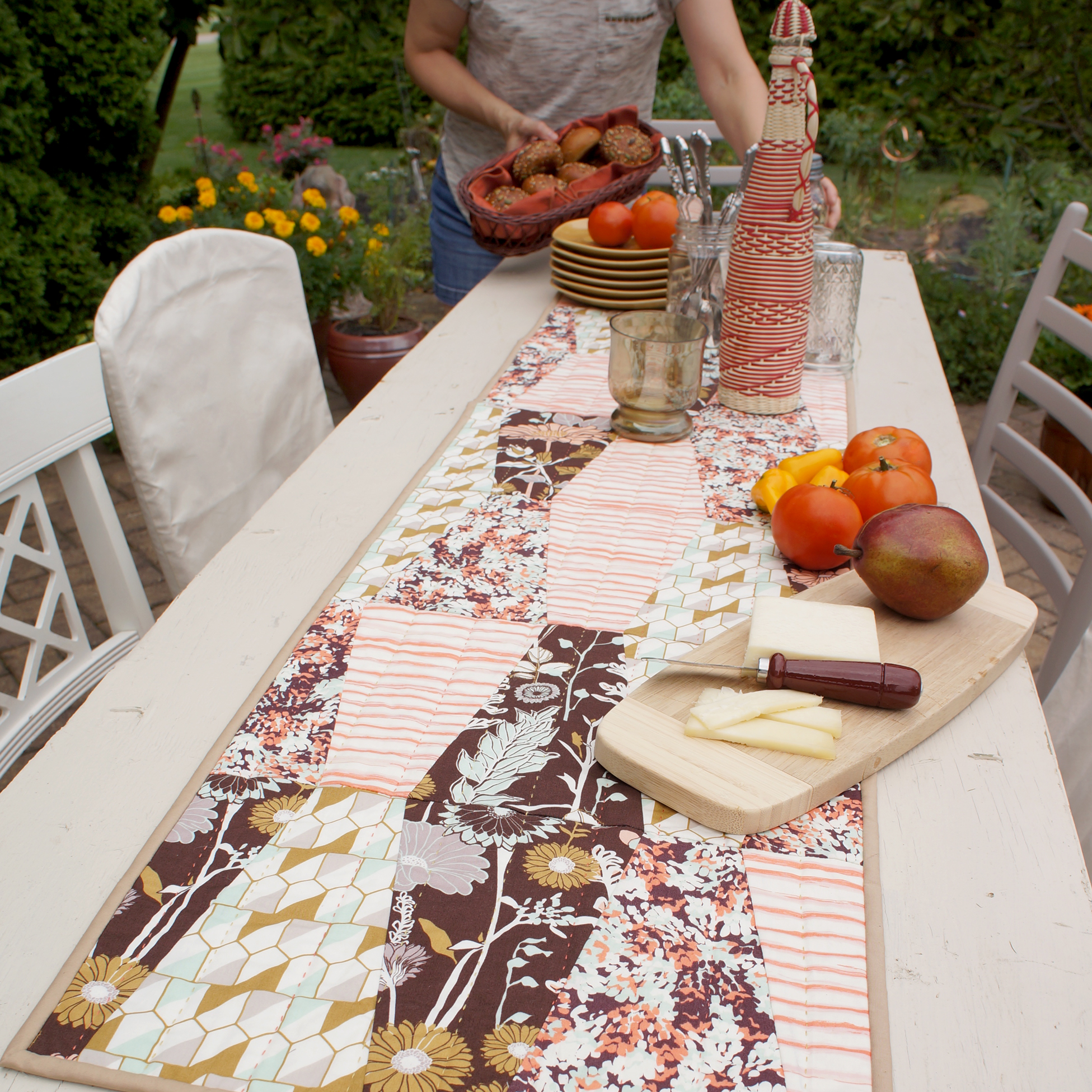 Bountiful Table Runner by Sharon Holland