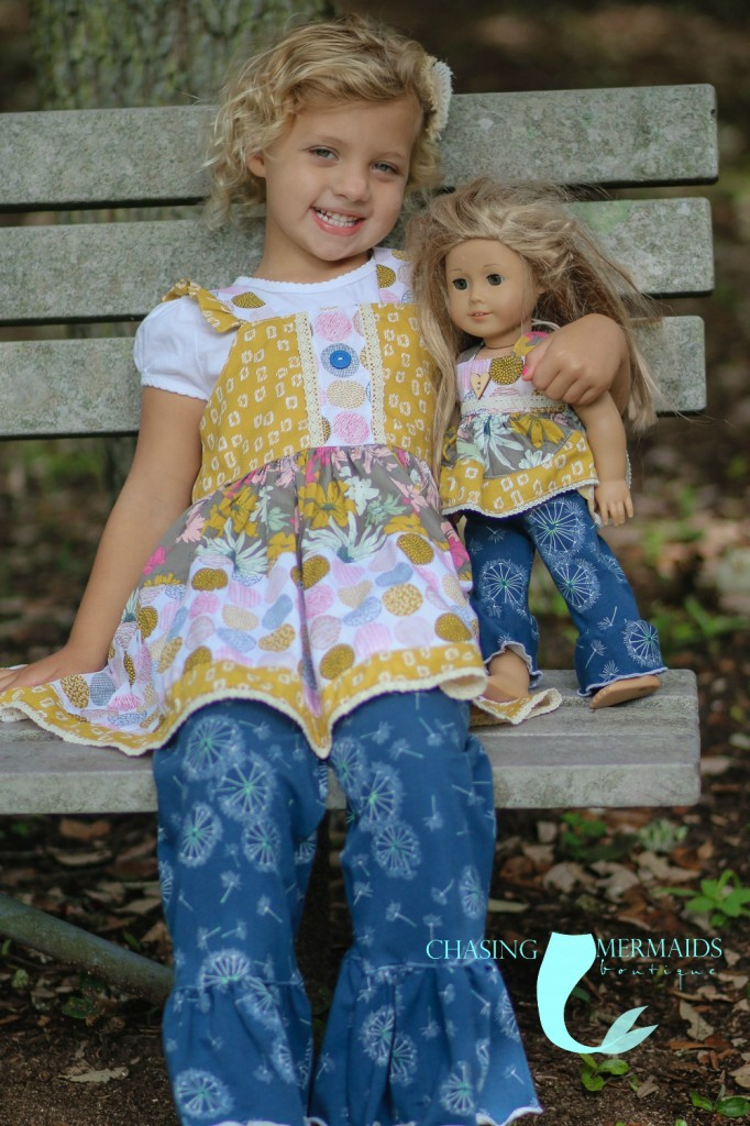 Sketchbook fabrics outfits made by Chasing Mermaids