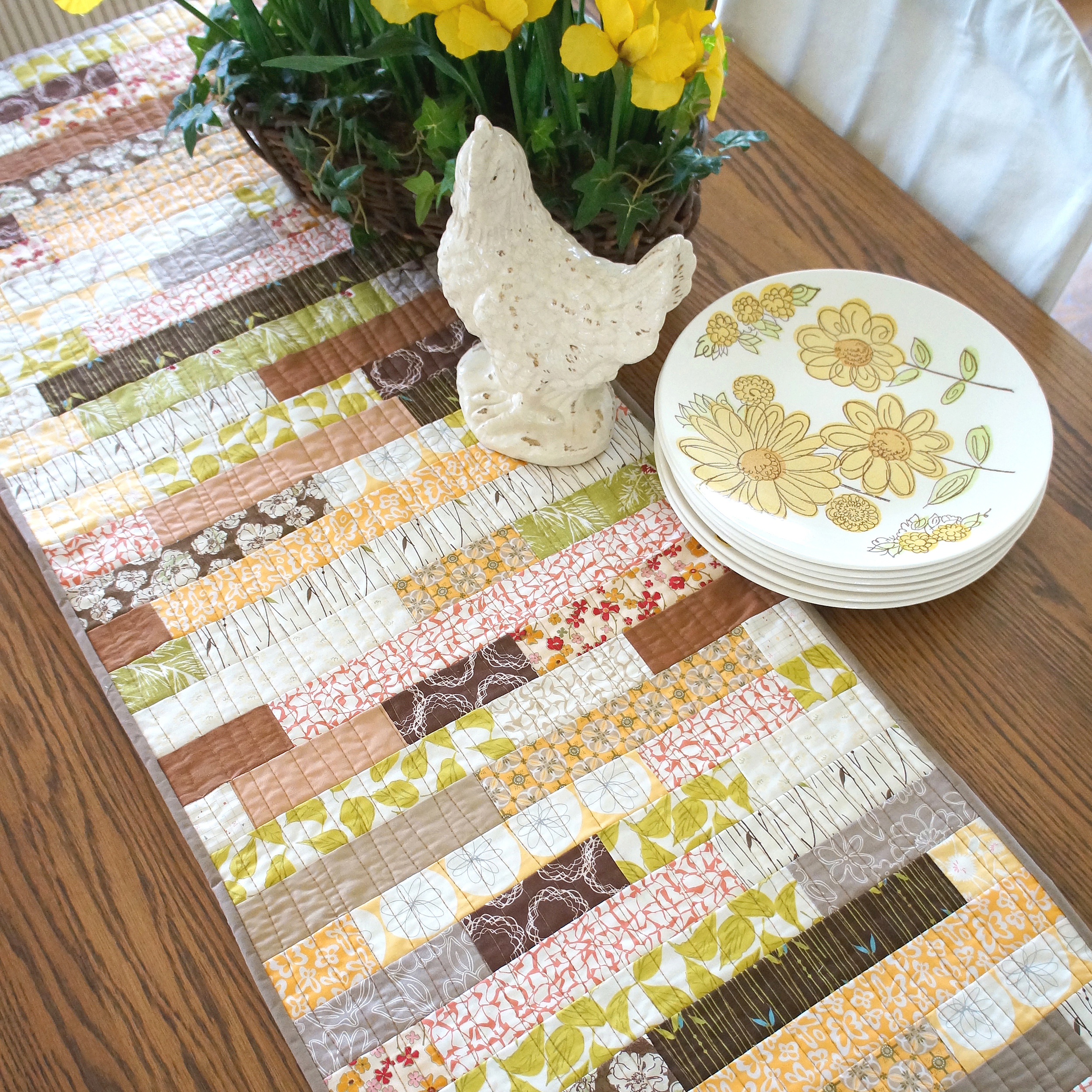Stacked Strips Table Runner