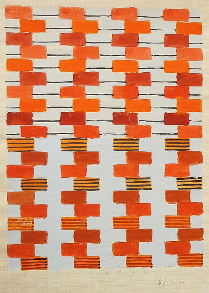Textile design by Gunta Stölzl