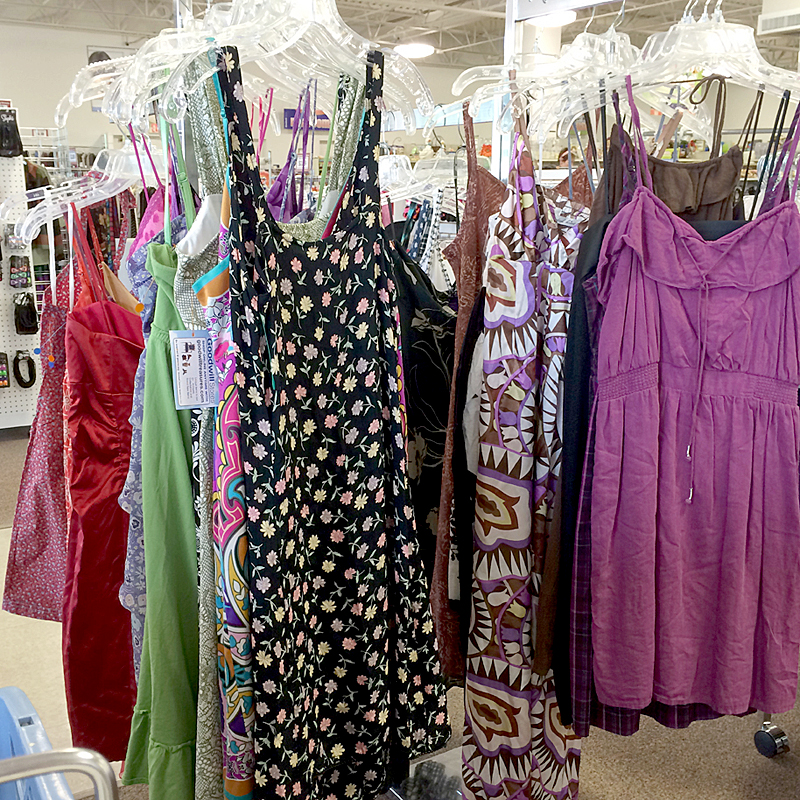 Selection of sundress at Goodwill