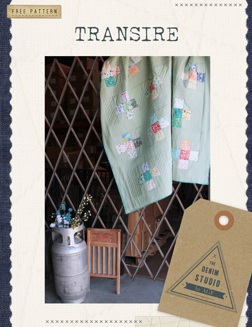 Transire free quilt pattern by AGF